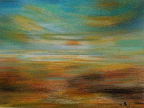 Pastel - Ciel 1 - 18x23 - Marithé