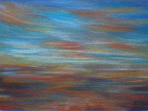 Pastel - Ciel 2 - 18 x 23 - Marithé