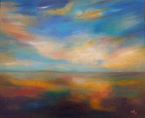 Huile sur toile - 61x50 - Ciel 1 - * Marithé *