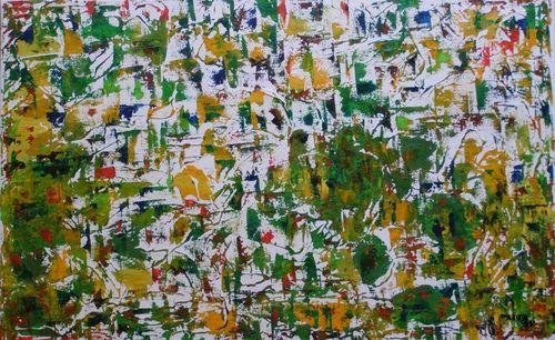 Amazonie - Huile sur toile - 61x38 - Marithé