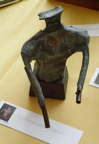 Alain Berger - La femme dans l'attente -Métal,Ciment