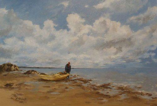 René Robakowski - Sortie en mer - Huile - 73 x 50