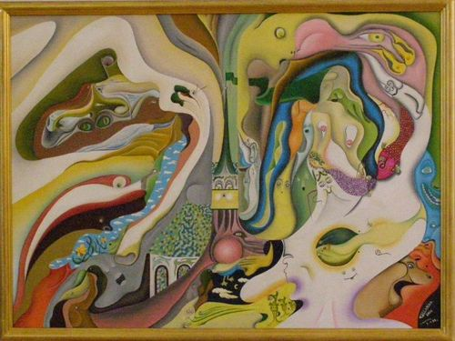 Eric Talarida-L'illusion du clocher magique - 68 x 94
