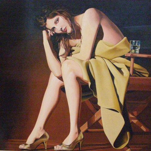 Alain Delattre-Pause dans l'atelier-100x100-Huile