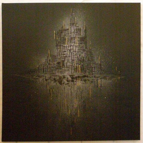 René Soler - Le Mont ... -100x100- Acrylique