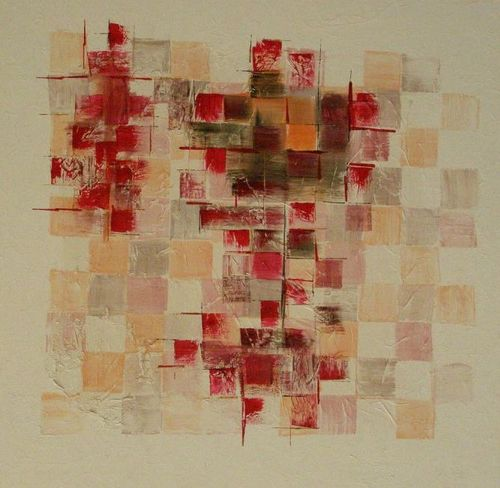 René Soler - Sensation forte - 100x100 - Acrylique / collage