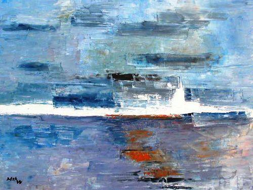 Apparition - Huile sur toile - 61x50 - Marithé