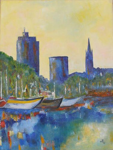 Port de La Rochelle 01- Huile sur toile - 61x50 - Marithé