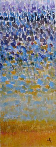 """"""" Evasion """" - Huile sur toile - 20x50 - Marithé"""