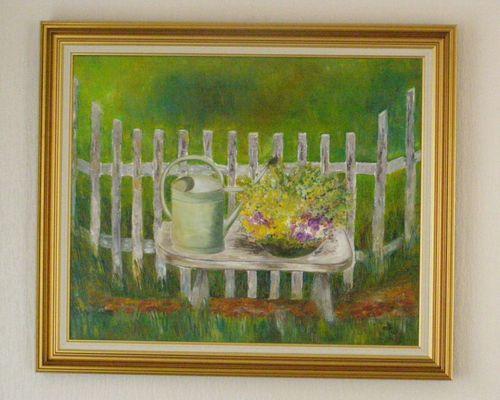 """ Au jardin "" ... Marithé ... Avril 2010"