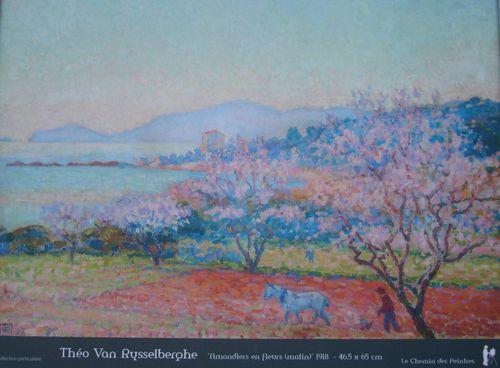 Les Amandiers en fleurs-1918-Théo Van Rysselberghe