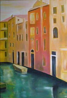 Venise la Belle - Huile sur toile - 55 x 38 - Marithé