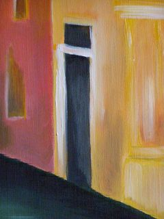 abrités derrière la porte ...