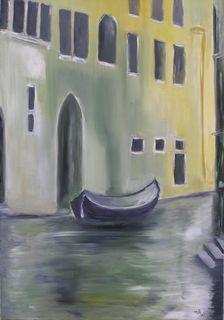 Venise l'hiver - Huile sur toile - 55 x 38 - Marithé