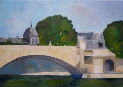 Pont du Carrousel Sur la Seine-65x46